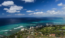 Honolulu and Mamala Bay Royalty Free Stock Photography