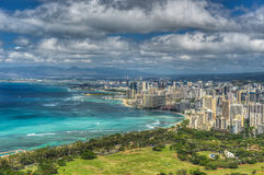 Honolulu and Mamala Bay Royalty Free Stock Photos