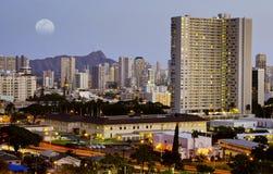 Honolulu-Nachtzeit Lizenzfreies Stockfoto