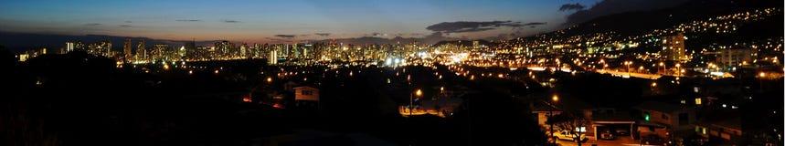 Honolulu at night Panorama Stock Photo