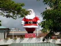 Santa on top of Ala Moana Mall royalty free stock photo