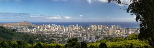 Honolulu Oahu, Hawaii Royaltyfri Bild