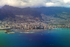 Honolulu, opinión de la llegada fotos de archivo libres de regalías