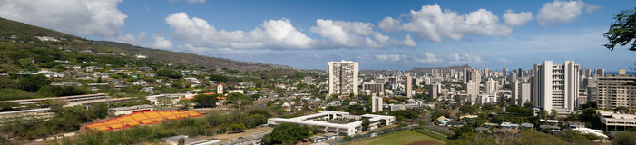 Honolulu Panorama Royalty Free Stock Image