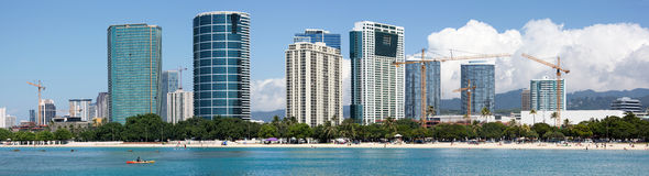 Honolulu Panorama Royalty Free Stock Image