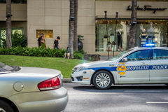 Honolulu Police Car stock photos