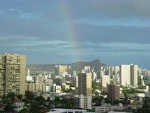Honolulu-Regenbogen Lizenzfreies Stockbild