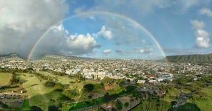 Honolulu-Regenbogen stockfotografie
