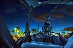 Honolulu sceniskt flyg Arkivfoto
