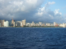 Honolulu From Sea Stock Photos