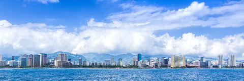 Honolulu Skyline Royalty Free Stock Photography