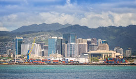 Honolulu Skyline, Oahu Hawaii Stock Image