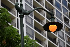 Honolulu street light Royalty Free Stock Photo