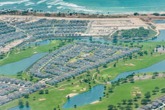 Honolulu suburb near airport with golf course Stock Image
