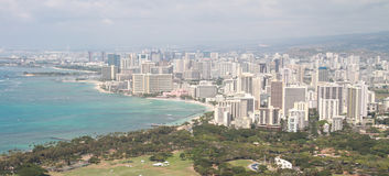 Honolulu und Waikiki Stockfotos
