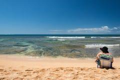 HONOLULU, USA - AUGUST, 14 2014 - People having fun at hawaii beach Stock Images