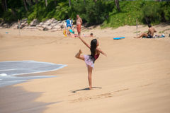 HONOLULU, USA - AUGUST, 14 2014 - People having fun at hawaii beach Stock Photography