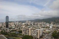 Honolulu van de lucht Royalty-vrije Stock Afbeelding