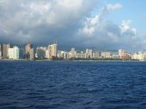 Honolulu van Overzees Stock Foto's