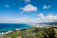Honolulu view Stock Images
