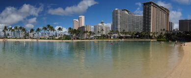 Honolulu Waikiki. Royalty Free Stock Photography