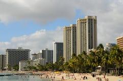 Honolulu Waikiki Beach Royalty Free Stock Photo