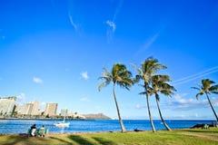 Honolulu - Waikiki Strand stockfotos