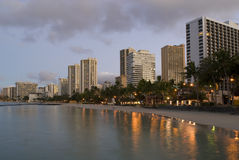 Honolulu Waikiki Sunrise Stock Photos