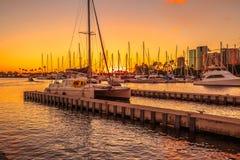 Honolulu waterfront Hawaii Stock Images