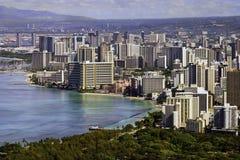 Honolulu and Wikiki beach Royalty Free Stock Photos