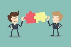 Honom begrepp av affärsmananslutningspartners Arkivbild