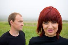 Honom & henne Arkivfoton