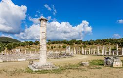 Honor column in Ancient Messina,  Greece Royalty Free Stock Image