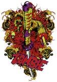 Honor del zombi ilustración del vector