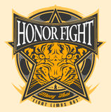 HONOR FIGHT MUAY THAI. When the Fighting are start, any  possibilities will happen. Including the occurrence of cheat in fighting. This design aims to uphold the Stock Image