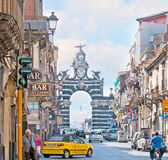 The honor gate in Catania stock images