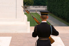 Honor Guard at Arlington Cemetery stock images