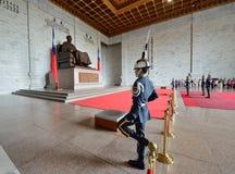 Honor Guard in Chiang Kai-shek Memorial Hall Royalty Free Stock Photo