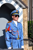 Honor guard at the entrance to the Presidential Palace in the Prague Castle ,Prague, Stock Photo