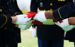 Honor Guard and Flag Stock Images