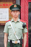 Honor guard in front of a building, Beijing, China Stock Images