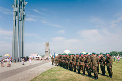 Honor guard at Grunwald Royalty Free Stock Photo