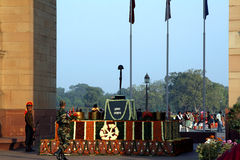 Honor guard at the India Gate Stock Photography