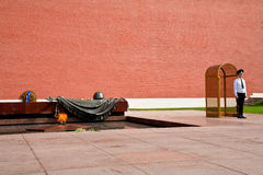 Honor Guard by Kremlin Wall in Moscow Royalty Free Stock Images