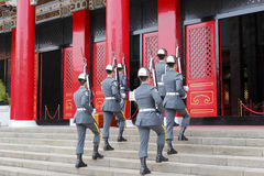 Honor guard marching into martyrs' shrine Stock Image