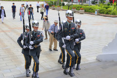 Honor guard marching Royalty Free Stock Photo
