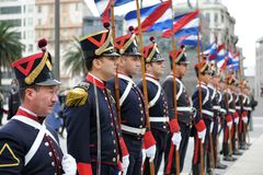Honor Guard at Montevideo Stock Photo