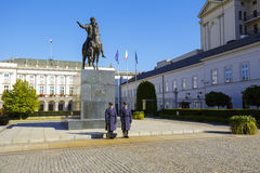 An honor guard at the monument, Warsaw Stock Image