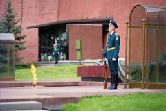 An honor guard at the Moscow Kremlin wall, Russia Stock Image