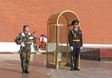 Honor guard. Moscow. royalty free stock photography